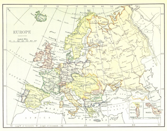 Multilingual countries: Europe